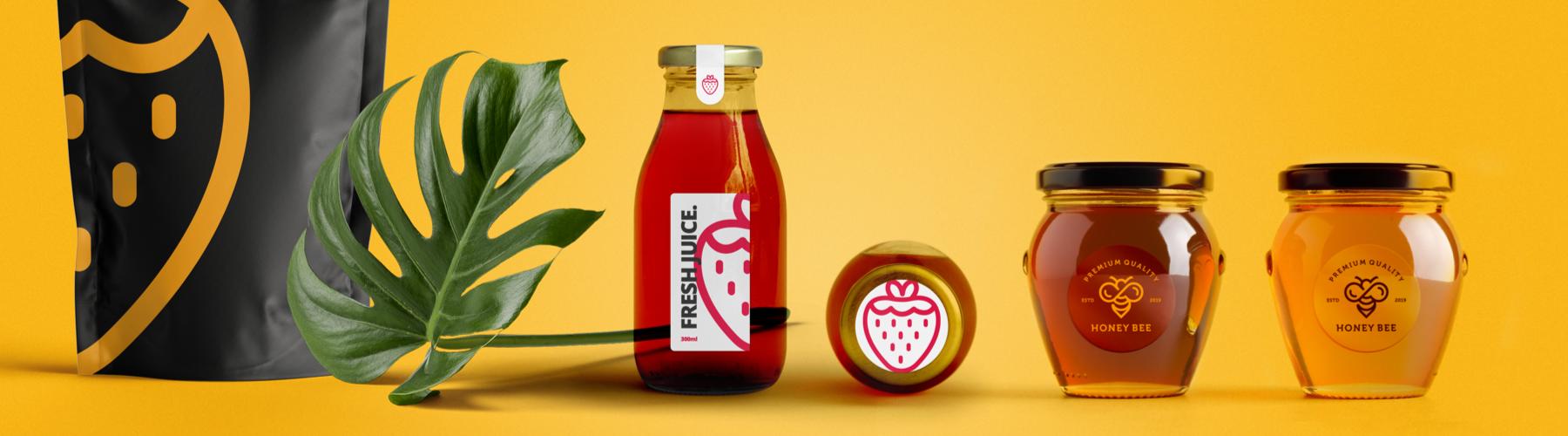 Imballaggi alimentari economici con etichette